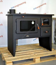 Wood Burning Stove 4+12 kW Cooker Back Boiler Log Burner Woodburning Prity W12PM