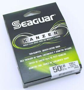 Seaguar Kanzen High Performance Braid 50 lb 150 yd Premium Braided Fishing Line