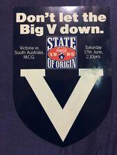 1995 RARE VFL/ AFL STICKER 'DON'T LET THE BIG V DOWN' Victoria GOOD CONDITION