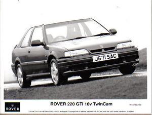 Rover 220 GTi 16v Twin Cam 3 door Original 1992 b/w Press Photo No. RH/0192/169