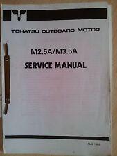TOHATSU M2.5A M3.5A SERVICE MANUAL OUTBOARDS AUSSENBORDER