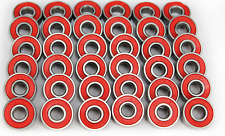 New Red skateboard/pennyboard bearings set 8 pcs ABEC9 22x8x7 608 rs US seller