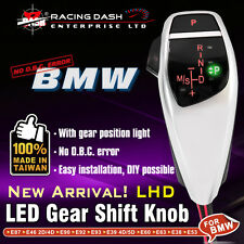 LED Shift Gear Knob for BMW E90 E60 E46 E85 X1 X3 Position Left Hand Drive LHD