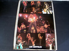 RARE LED ZEPPELIN 1982 VINTAGE ORIGINAL MUSIC COLLAGE POSTER