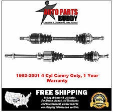 2 New Front CV Axles 1992-2001 Camry 4cyl Only With Warranty Free Shipping