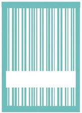 Lifestyle Crafts QuicKutz A2 Embossing Folder STRIPES LABEL  Title  EF-A2-016