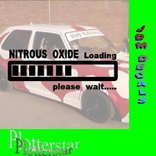 Nitrous Oxide loading Boost JDM Sticker Adesivo OEM Power Fun like Shocker