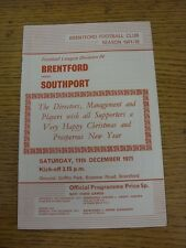 27/09/1971 Brentford v Stockport County  . Unless stated previously in the descr