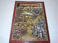 GW WARHAMMER Isla de Sangre-leer este primer libro. Negro 991