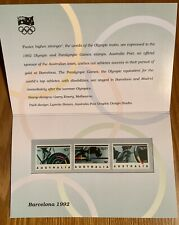 Barcelona Olympics Presentation Pack Stamps - Australia