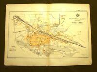 Novi Ligure Piano regolatore Carta geografica del 1890 Gustavo Strafforello