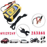 Chargeur de Batterie 6A 3A 2A 6V12V24V Voiture Moto Rapide Smart Indicateur LCD
