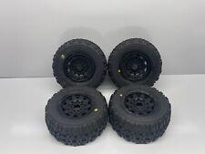 """Pro-Line 117310 Badlands 2.8/"""" Mounted Tires Wheels Stampede Rustler Set of 4"""
