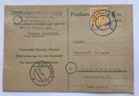 Postkarte Wolfsburg mit provisorischem Stempel n. Schleswig Mai 1946