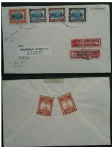 RARE c.1940 Ecuador Cover/ FDC 50th Anniv Pan-American Union stamps Postage Dues