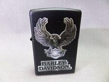 "ZIPPO ""HD Harley Davidson Eagle"" - BLACK TAPPETINO-NUOVO & OVP - #303"