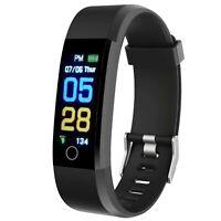 Fitness Tracker Smart Watch Heart Rate Blood Pressure Monitor Sports Wristband