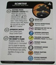 Scimitar 027.1 Star Trek Tactics 4 IV WizKids Heroclix Op Le