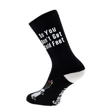 So You Don't Get Cold Feet White Heel Wedding Car Socks Mens UK 5-12 - X6N785 VP