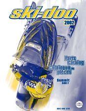 Ski-Doo parts manual catalog book 2002 SUMMIT 500 F