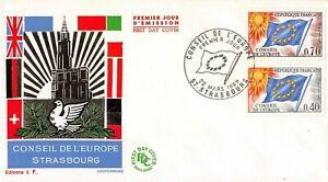 Enveloppe FDC FRANCE CONSEIL EUROPE 1969 STRASBOURG