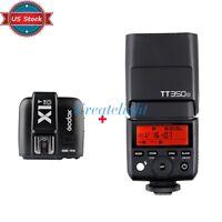 US Godox TT350o TTL 2.4G Flash Speedlite + X1T-O Trigger For Olympus / Panasonic