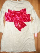 women ~  small ~ Christmas holiday velvety dress red bow