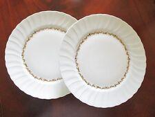 "Bernardaud ~ Limoges ""Chardons Dores"" ~  2 Dinner Plates ~ Mint"