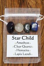 Star Child Crystal Gift Set Lapis Lazuli Amethyst Clear Quartz Hematite Gaia