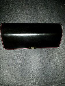 vintage stunning Valentino glasses case leather red stiches