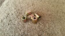 "Pkt  5 x 12mm x 1mm 1/4"" Pipe Female brake pipe nuts FREE UK POSTAGE"