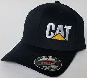 CAT HEAVY Machinery FLEXFIT Baseball Hat Cap Flexfit Style 6277 CATERPILLAR