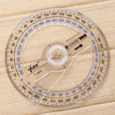 FD4820 □ Plastic 360 Degree Protractor Ruler Angle Finder Swing Arm School Offic