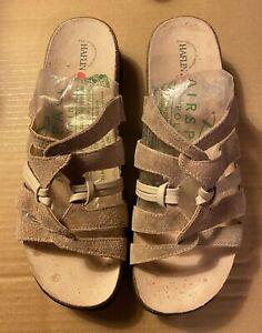 Haflinger Women's Sandals, Tan Leather Size 12