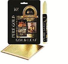 Dimensioni ADESIVO KIT PENNA aderenze con 10 Fogli Foglia D'Oro Arti Craft Lettering