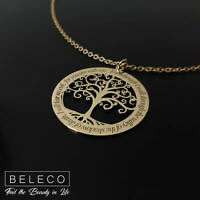 Tree of Life Necklace Personalized Jewelry Mothers Day Gift Ideas Custom Pendant