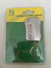 Digital Breathalyser KeyRing Breath Alcohol Tester with Flashlight New