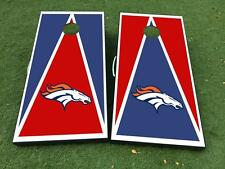 Denver Broncos Football Cornhole Board Game Decal VINYL WRAPS with LAMINATED