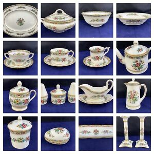 CHOICE OF COALPORT MING ROSE CHINA - TABLEWARE AND DECORATIVE PIECES