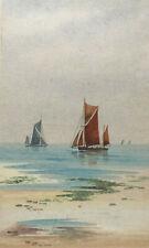 Original Stanley A Burchett Watercolour Seascape Painting , Signed, Coastal