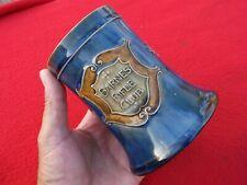 More details for barnes rifle club - royal doulton lambeth salt glaze tankard 1902 - 1922 mint