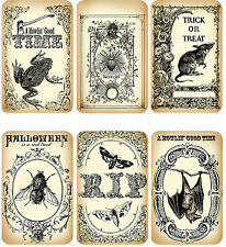 Halloween Themed Sepia Card Toppers ~ Scrapbooking / Crafting Card Making