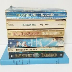 Lot of 7 The Arthurian Legend Books Mary Stewart Paperback Vintage Crystal Cave