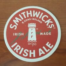 Collectable Beer Coaster SMITHWICKS & SONS IRISH ALE IRELAND EST 1710