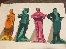 (15) Rare 1930 Die Cut Cardboard Litho Signs easel back Rca records Opera