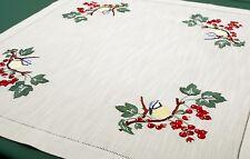 Tischdecken Handarbeiten Herbst Vogel  90x90cm
