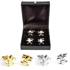 Fleur-de-lys  Fleur De Lis 2 Two Pairs of Cufflinks Wedding Gift Box Free Ship