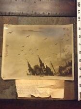 1933 dated press photo pre WW2 Moscow, USSR Red Birds of War on display airplane