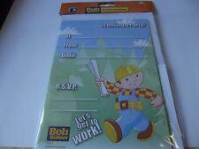 20 Kids Bob The Builder Invitation....Birthday/Party Invitations With Envelopes.