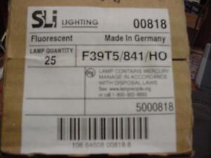 Case of 25 - SLI F39T5/841/HO T5HO 39W  Fluorescent Bulbs